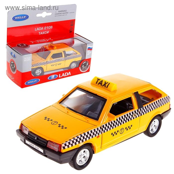 Модель машины Lada 2108 Такси, масштаб 1:34-39