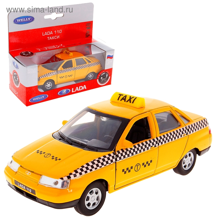 Модель машины Lada 110 Такси, масштаб 1:34 - 39