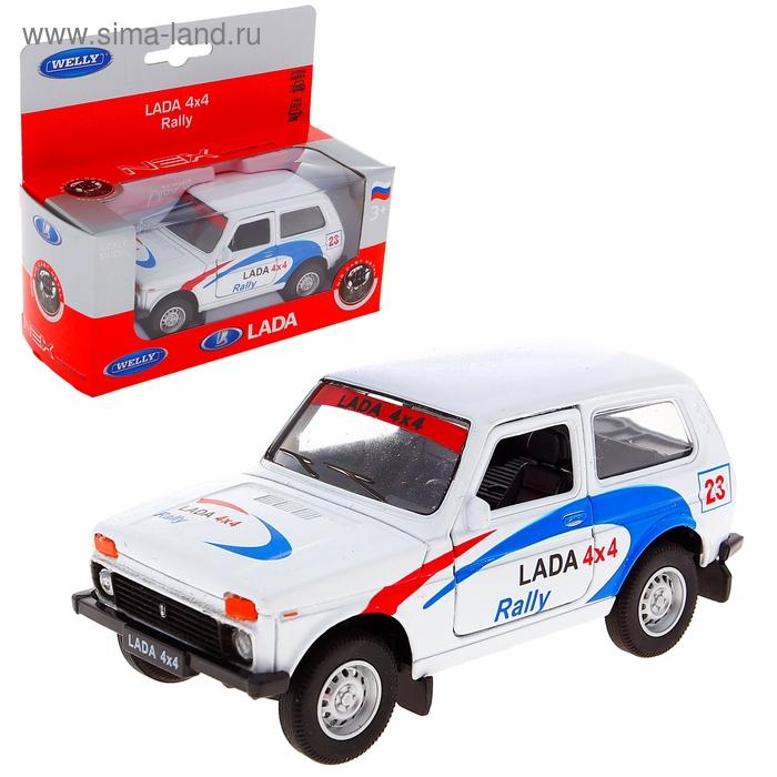 Модель машины Lada 4х4 Rally, масштаб 1:34-39
