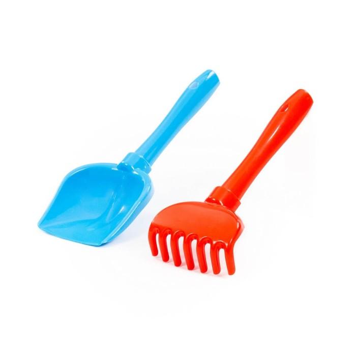 Песочный набор №72: лопатка, грабельки, цвета МИКС