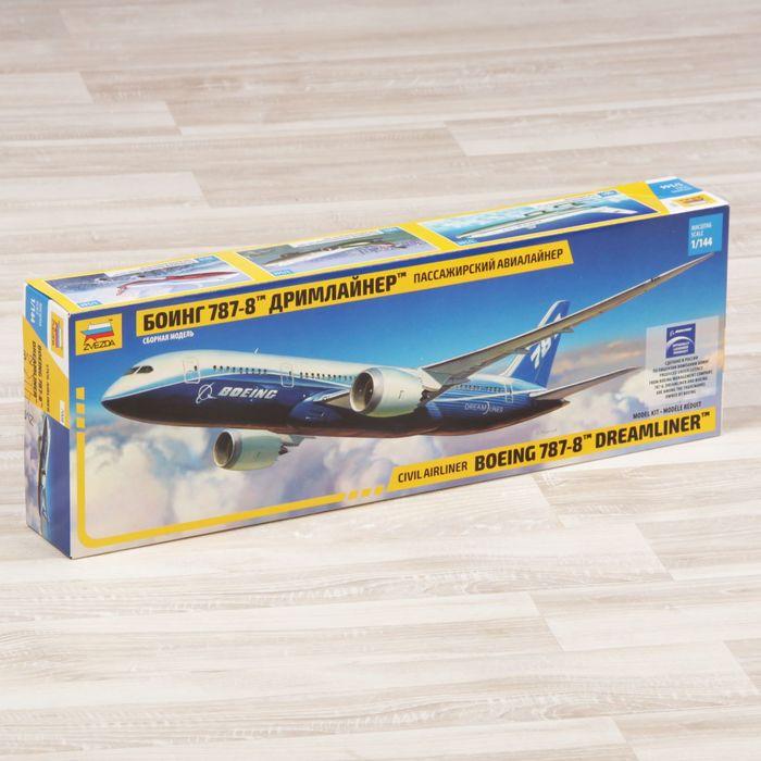 """Сборная модель """"Пассажирский авиалайнер """"Боинг"""" 787"""""""