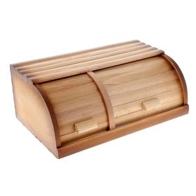 """Хлебница деревянная """"Двойная"""""""