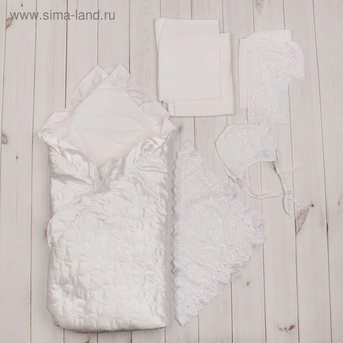 Комплект на выписку: 8 предметов, белый