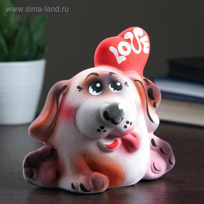 "Копилка ""Пёсик с сердечком"""
