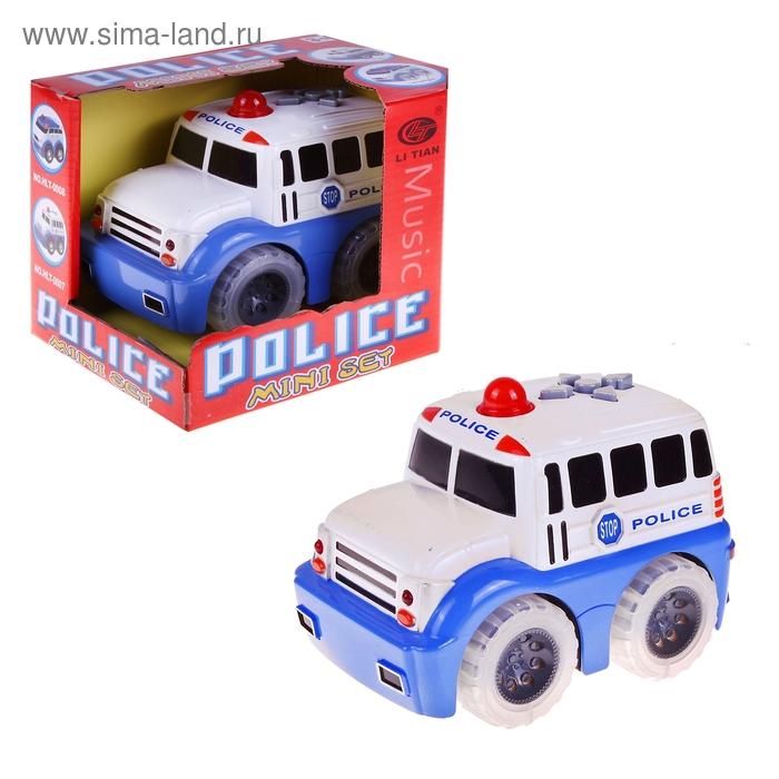 """Автобус """"Полиция"""", работает от батареек, световые и звуковые эффекты"""