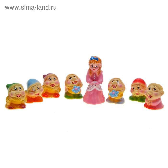 """Набор резиновых игрушек """"Белоснежка и 7 гномов"""""""