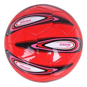 Мяч футбольный Minsa, 32 панели, PVC, 4 подслоя, ручная сшивка, размер 5, цвета микс