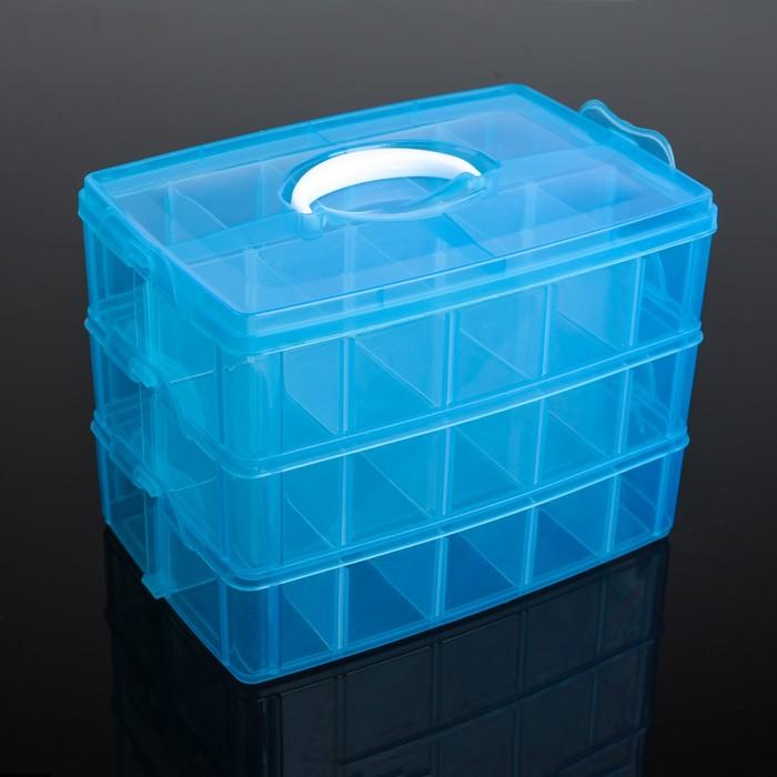 Бокс для хранения, 3 яруса, 30 отделений, цвет МИКС