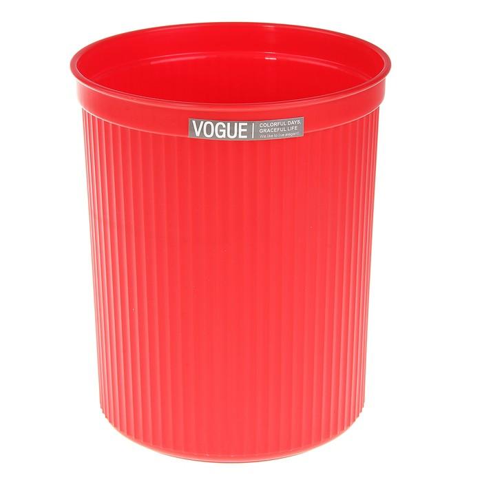 Ведро для мусора 15*15*18 см, красное
