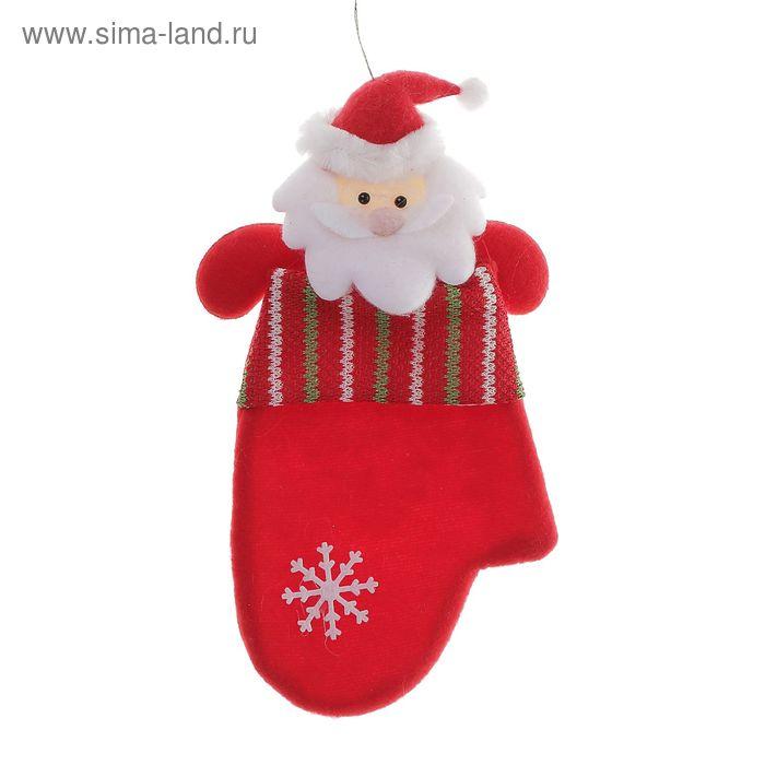 "Варежка ""Дед Мороз"" (блестящие полосочки)"