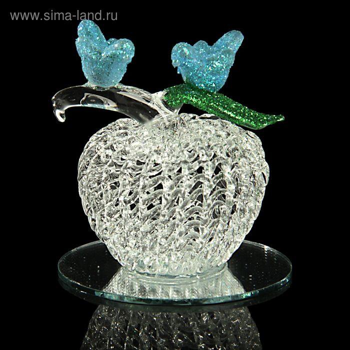 "Сувенир ""Два голубя на яблочке на зеркале"""