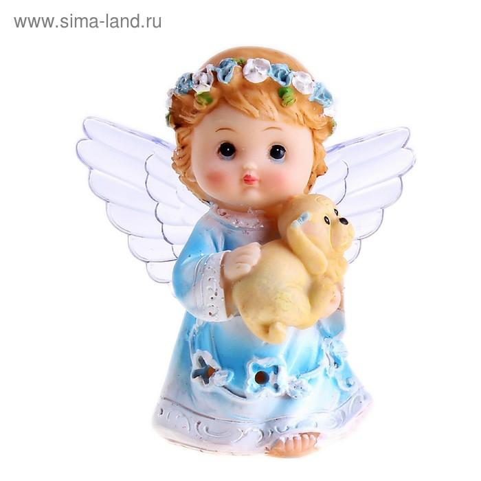 """Сувенир световой """"Ангел с пёсиком"""" МИКС"""