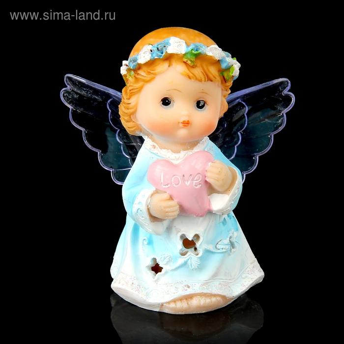 """Сувенир световой """"Ангел с сердечком в руках"""" МИКС"""
