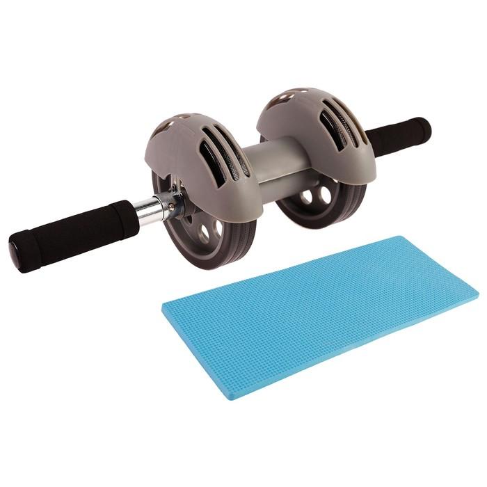 Ролик для пресса с возвратным механизмом, коврик в комплекте