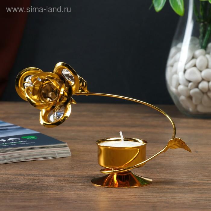 """Подсвечник """"Роза"""", цвет золотистый"""