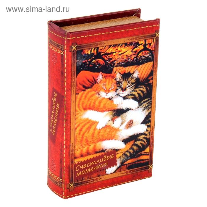 """Шкатулка-книга """"Спящие котята"""""""