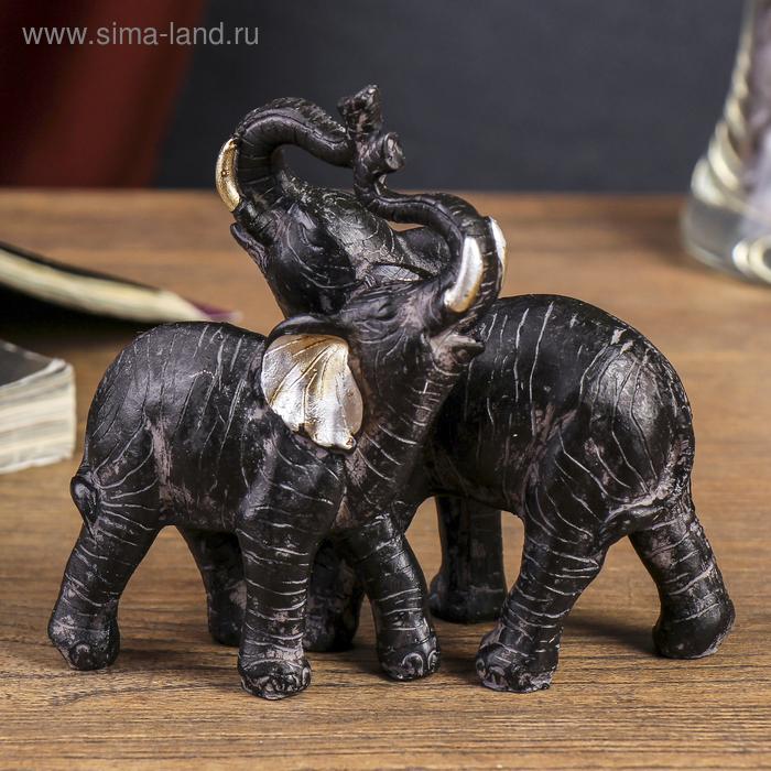 """Сувенир """"2 слона африканских"""""""