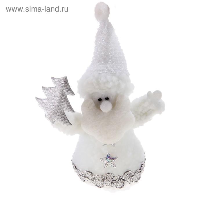 """Мягкая игрушка """"Дед Мороз"""" (кудрявый, с ёлкой)"""
