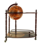 Глобус-бар декоративный напольный с двойными полочками