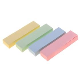 Блок-закладки с липким краем, 4 блока по 100 листов, пастель, микс Ош