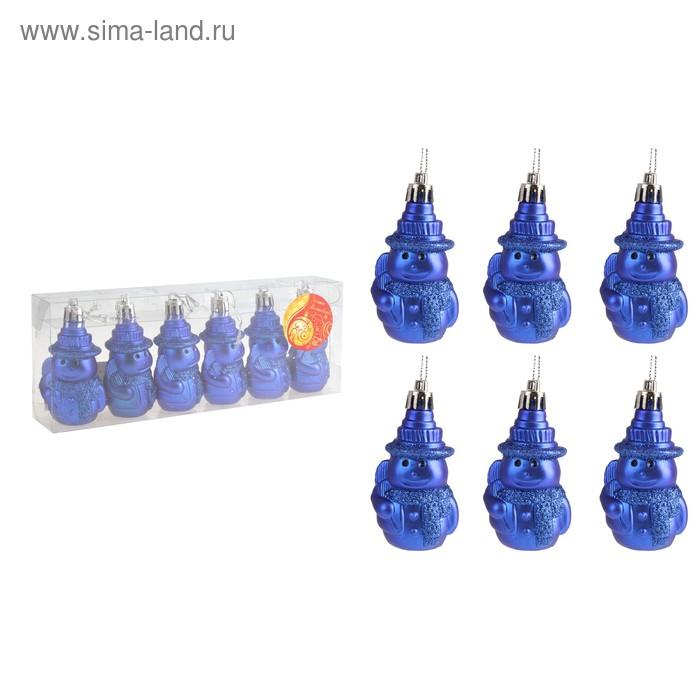 """Ёлочные игрушки """"Снеговички"""" (набор 6 шт.)"""