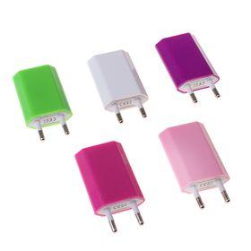 Сетевое зарядное устройство универсальное USB, МИКС, 1,0А