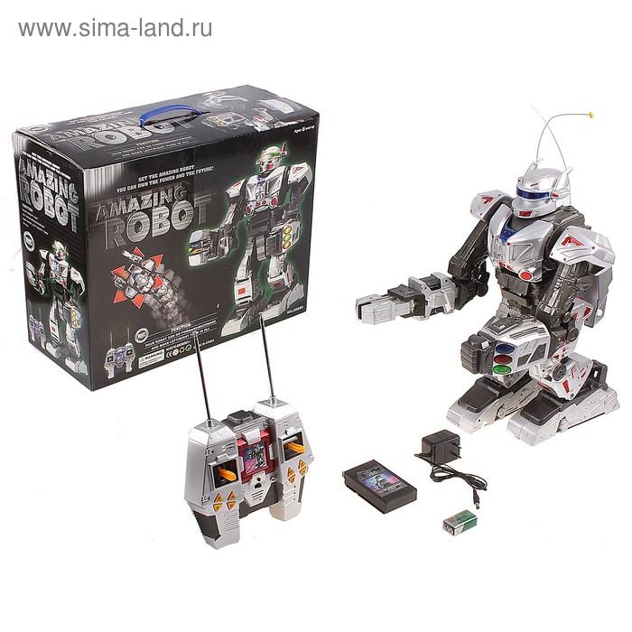 Робот радиоуправляемый, с аккумулятором, со световыми и звуковыми эффектами