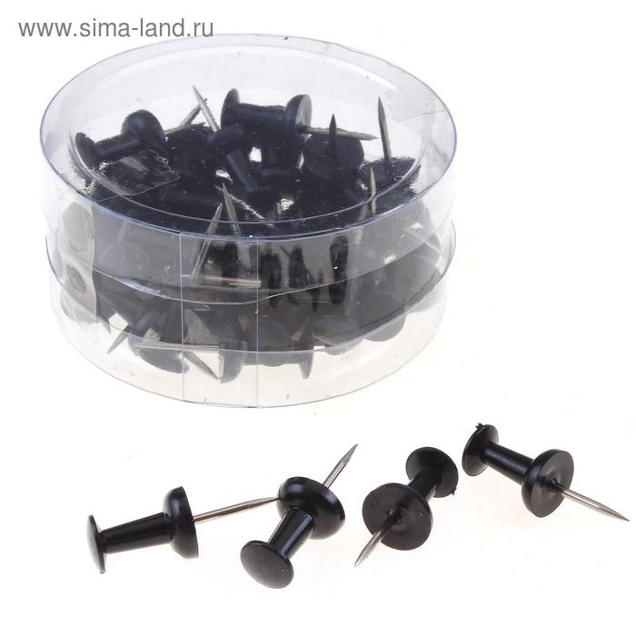 Набор кнопок силовых, черных, в пластиковой коробке