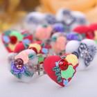 """Кольцо детское """"Выбражулька"""" цветы с сердцем, цвет МИКС"""