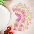 Салфетки бумажные (набор 20 шт) 33*33 см Астры
