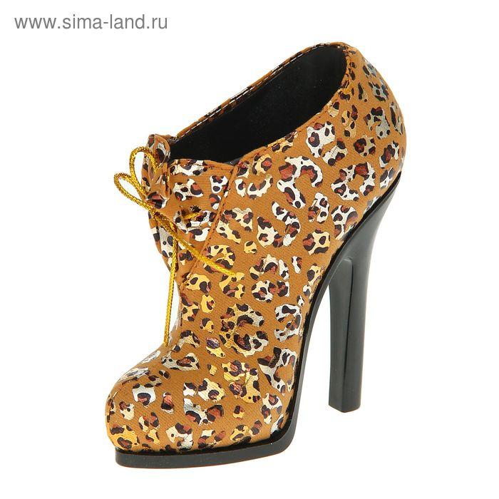"Подставка для кистей ""Туфелька"", цвет бежевый-леопард"