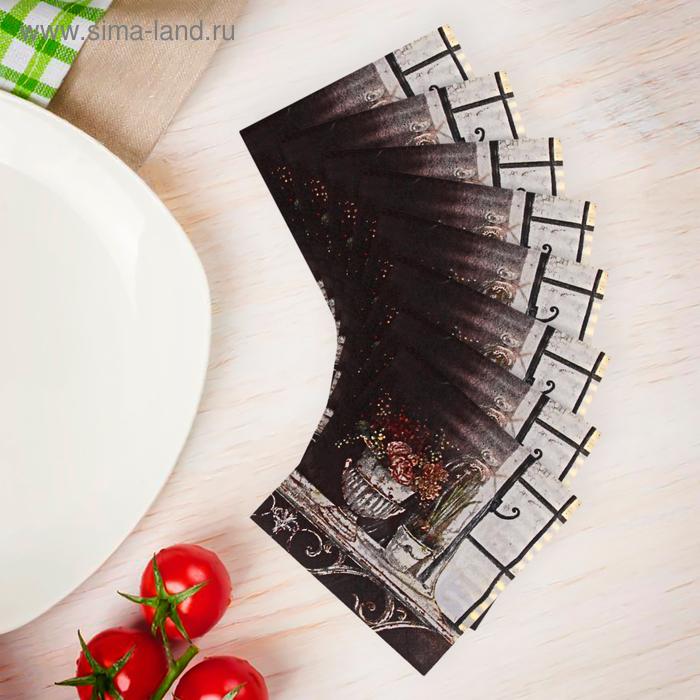 Салфетки бумажные (набор 20 шт) 33*33 см Цветы на подоконнике