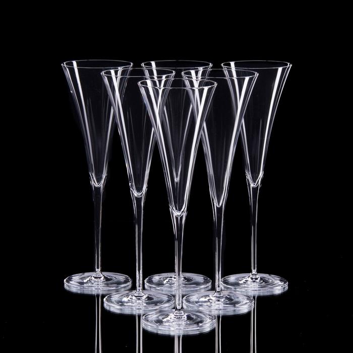 "Набор бокалов для шампанского ""Модерн"", 6 шт, 130 мл"