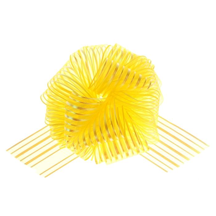 "Бант-шар №10 ""Полоски"", цвет жёлтый"