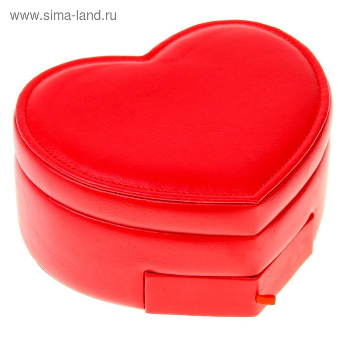 "Шкатулка для мелочей ""Сердце красное"""