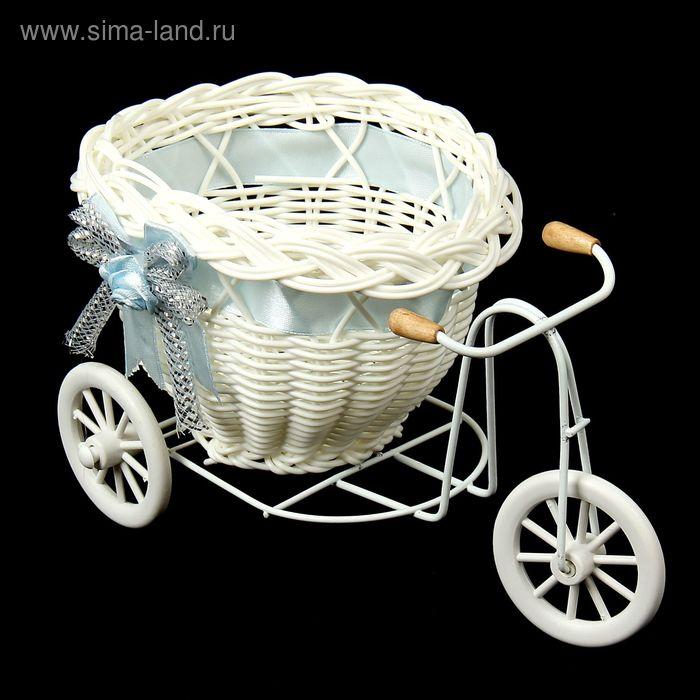 "Корзинка декоративная ""Велосипед с кашпо"", МИКС"