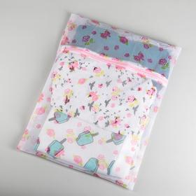 Мешок для стирки, мелкая сетка, цветной