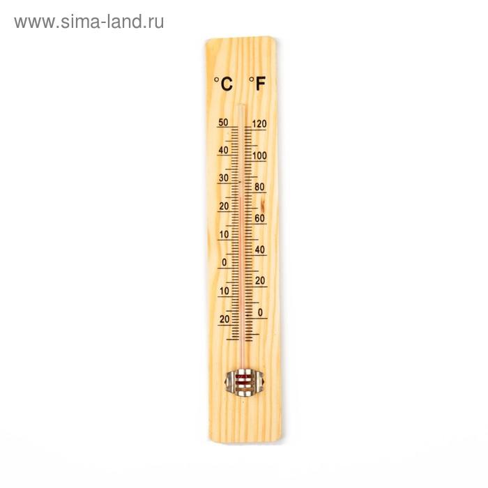 Термометр спиртовой, уличный, дерево