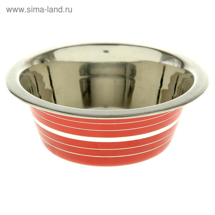 Миска цветная с полоской, VM-2609 (B)  400 мл