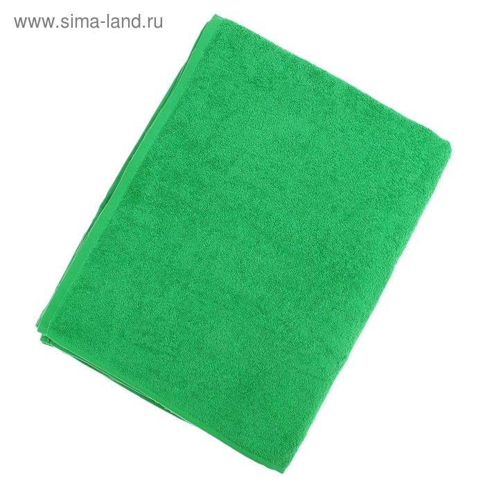"""Простыня махровая однотонная """"Антей"""" цвет классический зеленый 155*200 см 100% хлопок 340 гр/м"""