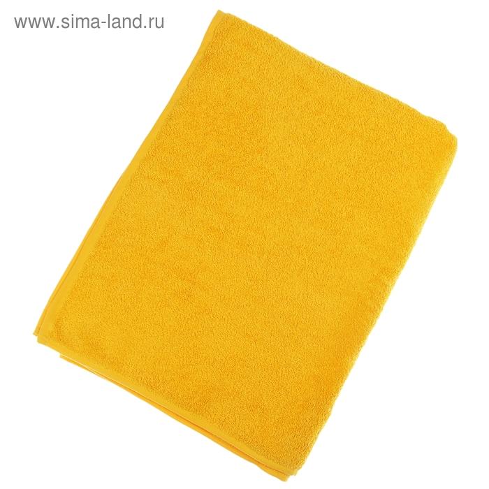 """Простыня махровая однотонная """"Антей"""" цвет желтый 155*200 см 100% хлопок 340 гр/м"""