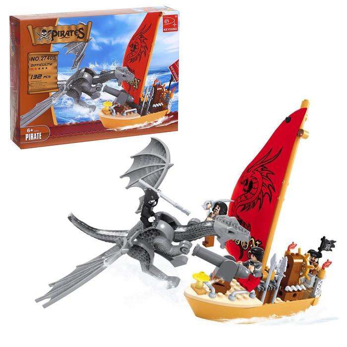 """Конструктор Пираты """"Сражение с драконом"""", 132 детали"""