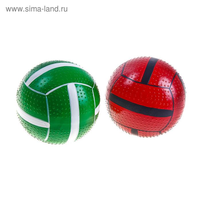 Мяч диаметр 125 мм лакированный в сетке, цвета МИКС