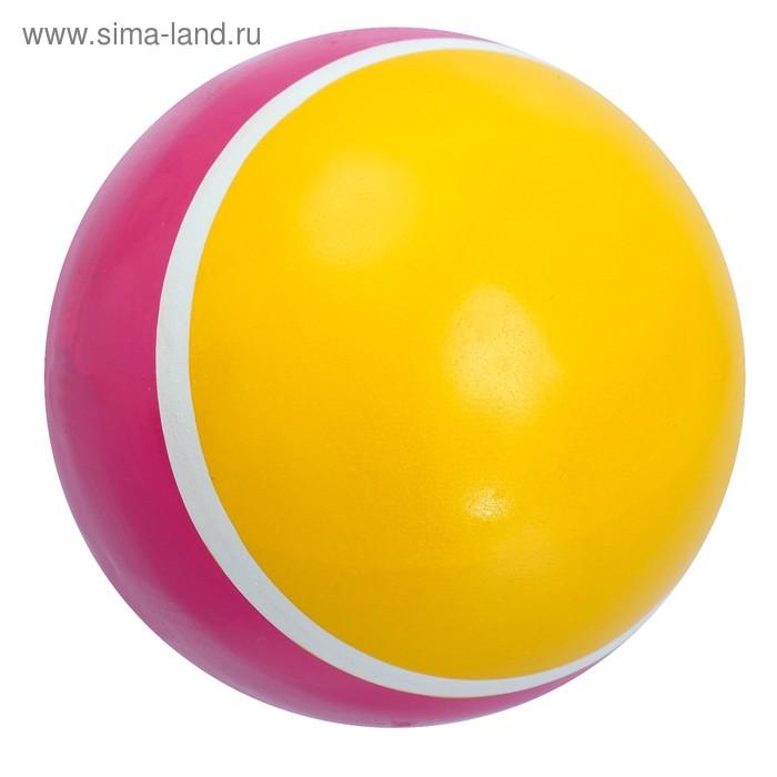 Мяч диаметр 75 мм лакированный с полосой, цвета МИКС