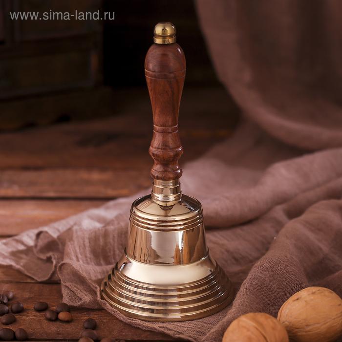 """Колокол с деревянной рукоятью и рельефным основанием """"Королева"""""""