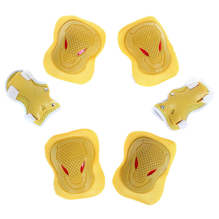 Защита роликовая OT-2030 р L, цвет желтый
