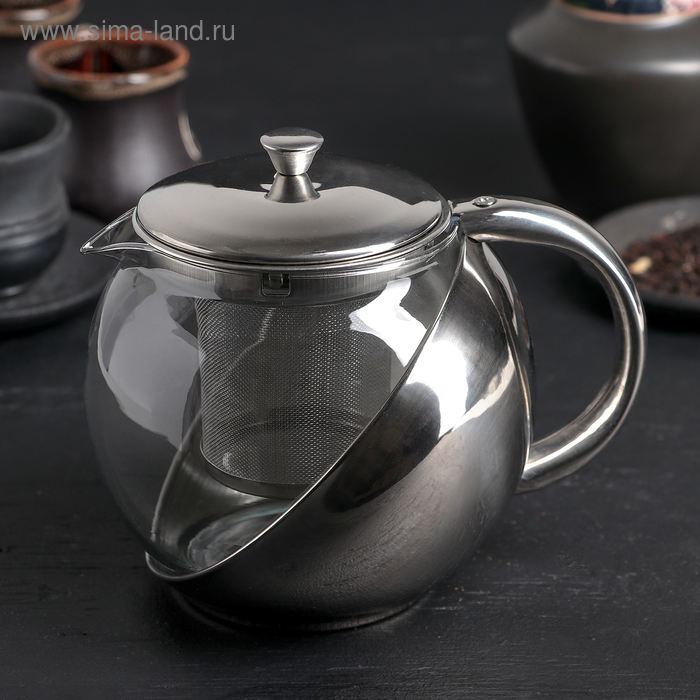 "Чайник заварочный 900 мл ""Металлик"""