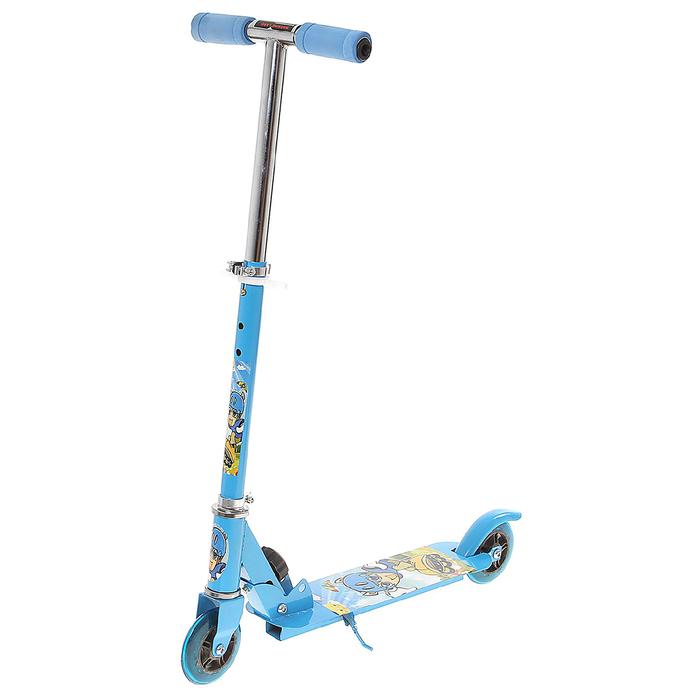 Самокат стальной OT-015, два колеса PVC, d=100 мм, цвет синий, до 40 кг