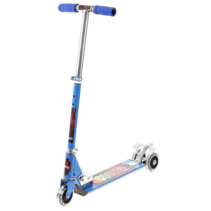 Самокат алюминиевый ОТ-Н4, три колеса PVC, d=100 мм, цвет синий, до 50 кг
