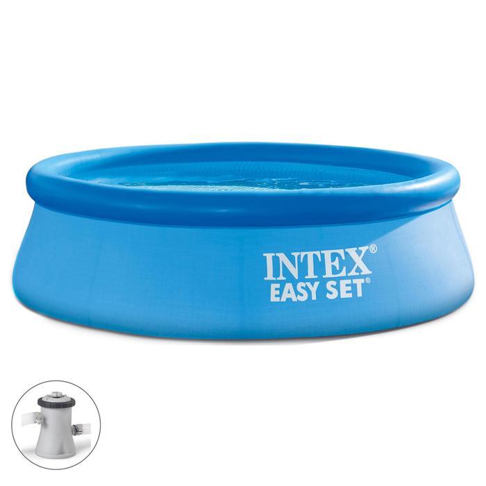 Бассейн надувной Easy Set, 244х76 см, фильтр-насос 28112 INTEX